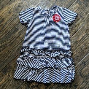 Carter's Striped Ruffle Dress